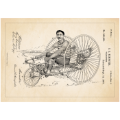 Patentposter A4 - D.E. Kempster Velocipede