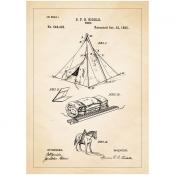 Patentposter A4 - S.F. Biddle Tent